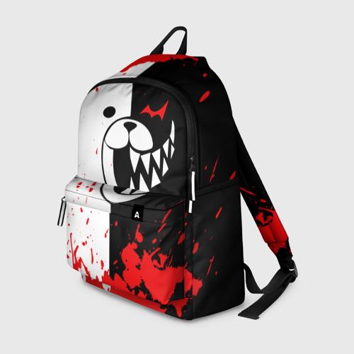 Рюкзак 3D с принтом MONOKUMA Blood, вид спереди #2