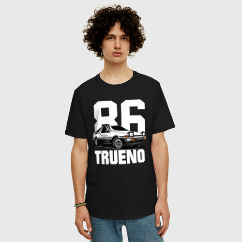 Футболка oversize с принтом TRUENO, фото на моделе #1