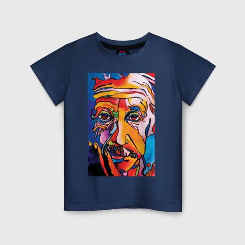 Детская футболка с принтом Альберт Эйнштейн, вид спереди #2