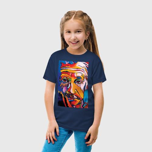 Детская футболка с принтом Альберт Эйнштейн, вид сбоку #3