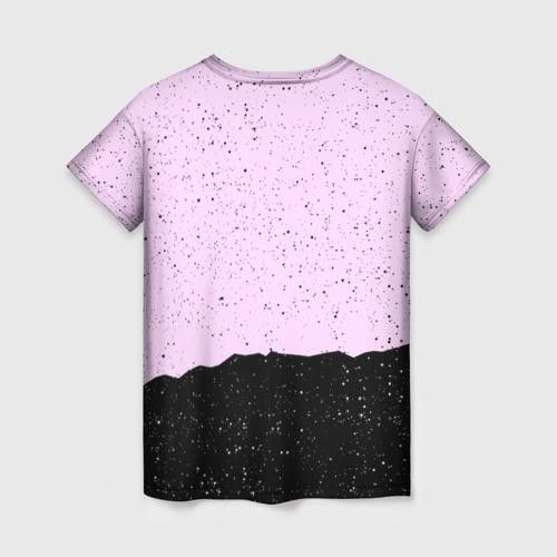 Женская 3D футболка с принтом BTS, вид сзади #1