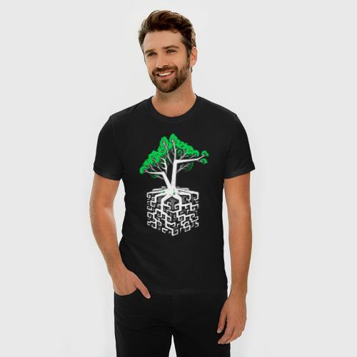 Мужская футболка премиум с принтом Квадратный корень, фото на моделе #1