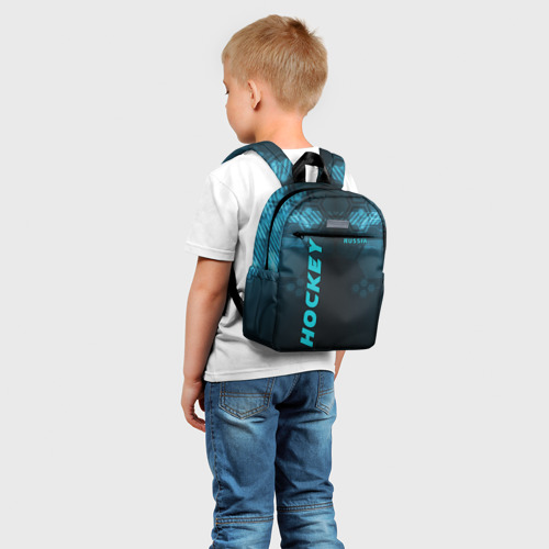 Детский рюкзак 3D с принтом HOCKEY, фото на моделе #1