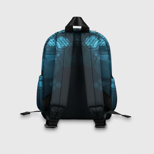 Детский рюкзак 3D с принтом HOCKEY, вид сзади #2