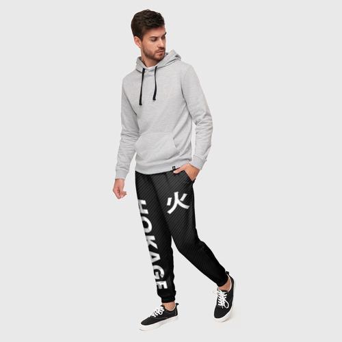 Мужские брюки 3D с принтом Hocage вертикально, фото на моделе #1