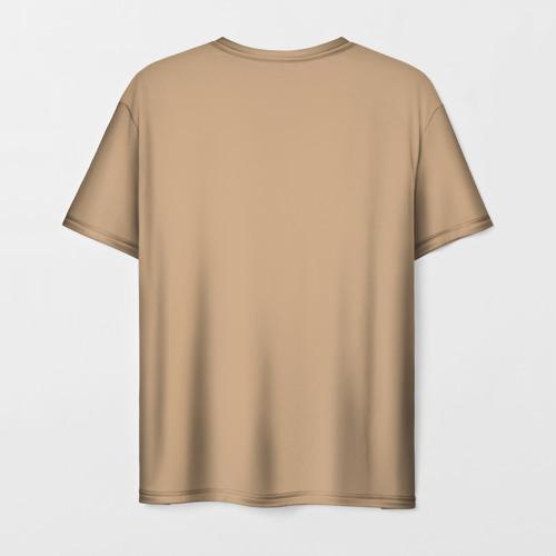 Мужская 3D футболка с принтом Ларри Sanity`s Fall ориг цвет, вид сзади #1