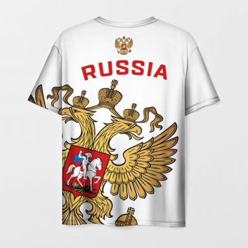 Мужская 3D футболка с принтом Россия, вид сзади #1