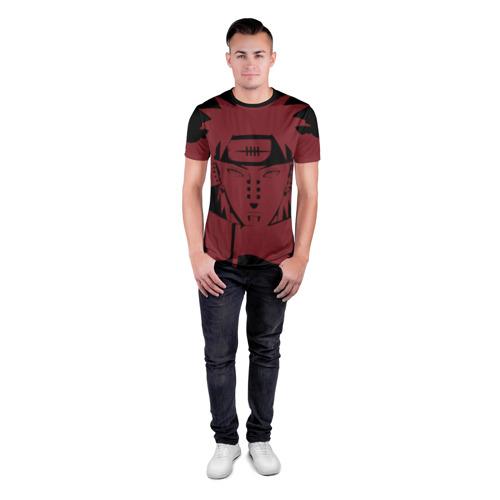 Мужская футболка 3D спортивная с принтом Багровый Пейн, вид сбоку #3