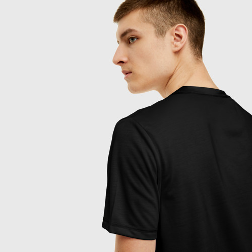 Мужская 3D футболка с принтом Slipknot All Out Life, вид сзади #2