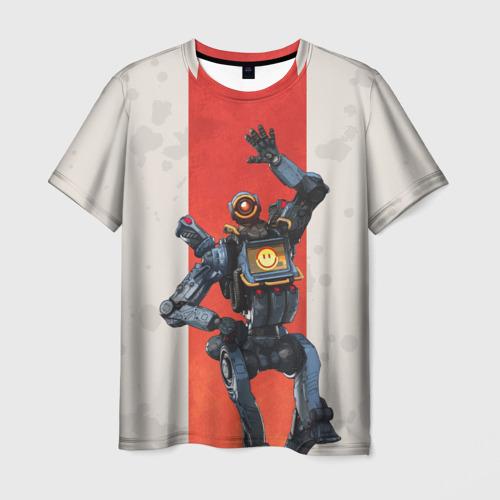 Мужская 3D футболка с принтом APEX LEGENDS - Pathfinder, вид спереди #2
