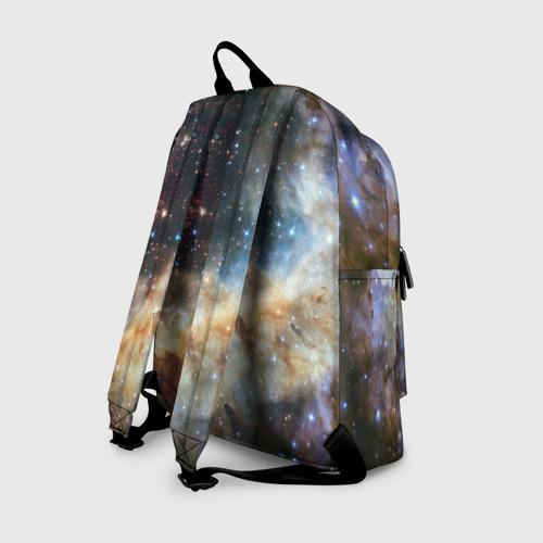 Рюкзак 3D с принтом Сова космическая, вид сзади #1