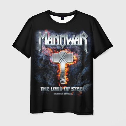 Мужская 3D футболка с принтом Manowar, вид спереди #2
