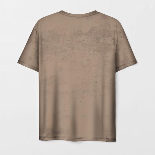 Мужская 3D футболка с принтом SALLY FACE - Ларри, вид сзади #1