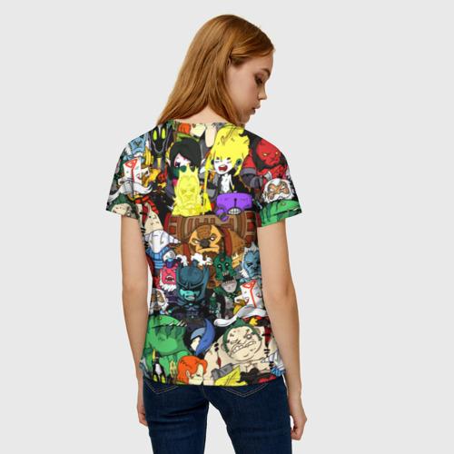 Женская 3D футболка с принтом Дота 2, вид сзади #2