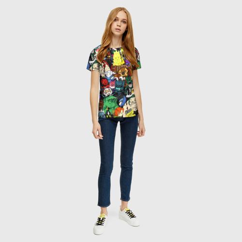 Женская 3D футболка с принтом Дота 2, вид сбоку #3