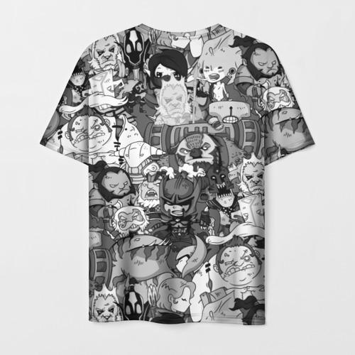 Мужская 3D футболка с принтом Дота 2, вид сзади #1