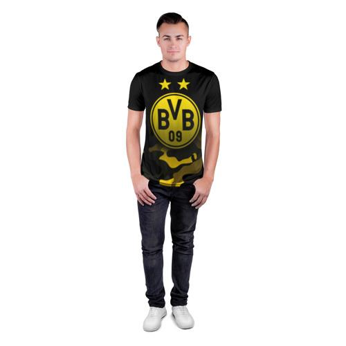 Мужская футболка 3D спортивная с принтом Боруссия Дортмунд, вид сбоку #3