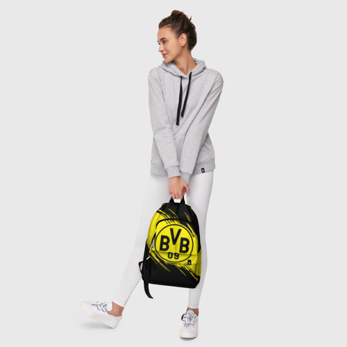 Рюкзак 3D с принтом Боруссия Дортмунд, фото #6