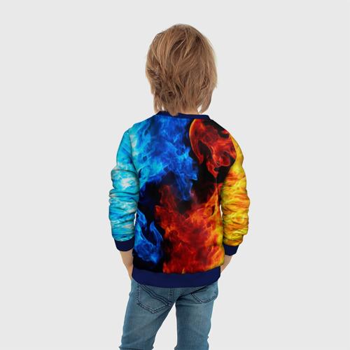 Детский 3D свитшот с принтом FORTNITE, вид сзади #2
