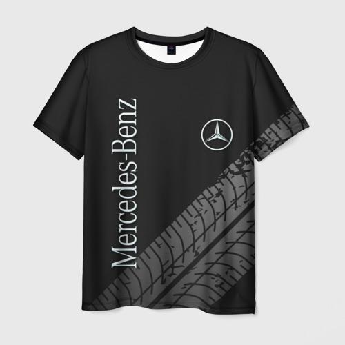 Мужская 3D футболка Mercedes