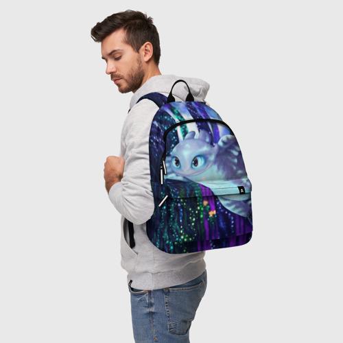 Рюкзак 3D с принтом Как приручить дракона, фото на моделе #1
