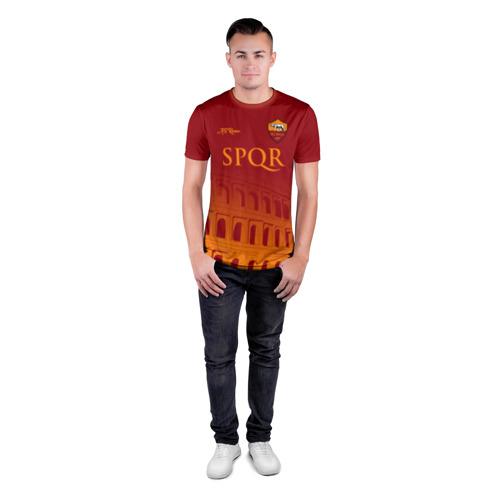 Мужская футболка 3D спортивная с принтом Рома, вид сбоку #3