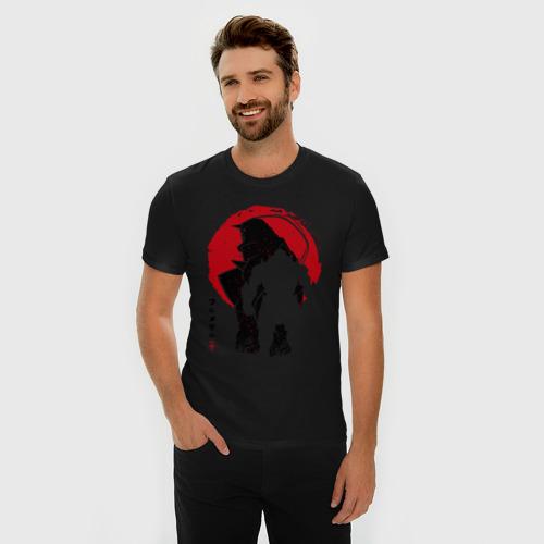 Мужская футболка премиум с принтом FMA Alphonse Elric, фото на моделе #1