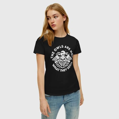 Женская футболка с принтом Твин Пикс, фото на моделе #1