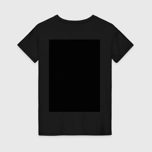 Женская футболка с принтом Твин Пикс, вид сзади #1