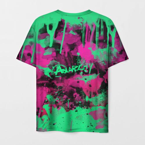 Мужская 3D футболка с принтом НЕОНОВАЯ РЕВОЛЮЦИЯ   NEON REVOLUTION, вид сзади #1