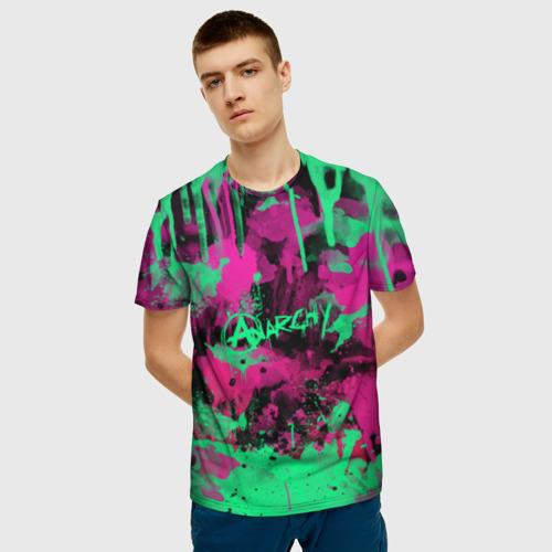 Мужская 3D футболка с принтом НЕОНОВАЯ РЕВОЛЮЦИЯ   NEON REVOLUTION, фото на моделе #1