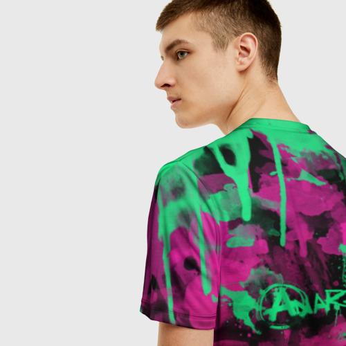 Мужская 3D футболка с принтом НЕОНОВАЯ РЕВОЛЮЦИЯ   NEON REVOLUTION, вид сзади #2