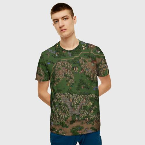 Мужская 3D футболка с принтом HoMM 3, фото на моделе #1