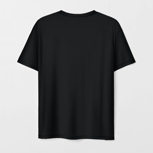 Мужская 3D футболка с принтом Чужой на Рентгене, вид сзади #1