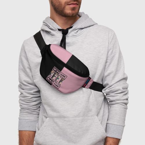 Поясная сумка 3D с принтом BlackPink, фото на моделе #1