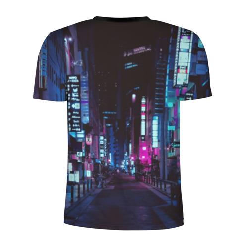 Мужская футболка 3D спортивная с принтом Cyberpunk 2077, вид сзади #1