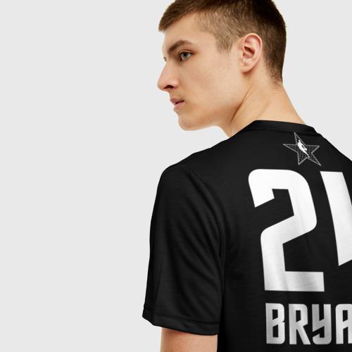 Мужская 3D футболка с принтом Kobe BRYANT Jersey, вид сзади #2