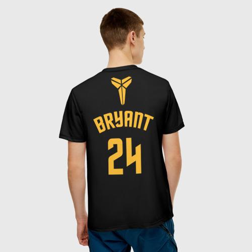 Мужская 3D футболка с принтом Kobe Bryant black mamba, вид сзади #2