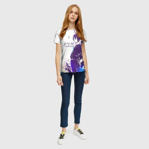 Женская 3D футболка с принтом NORAGAMI Yato blue, вид сбоку #3