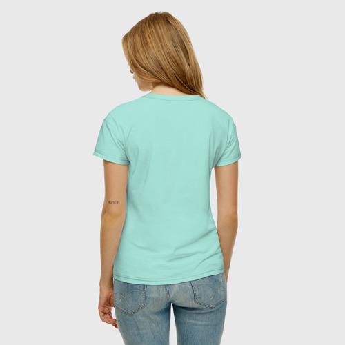 Женская футболка с принтом Лиса с книжкой, вид сзади #2