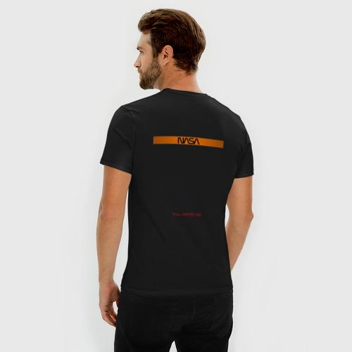 Мужская футболка премиум с принтом NASA / НАСА, вид сзади #2