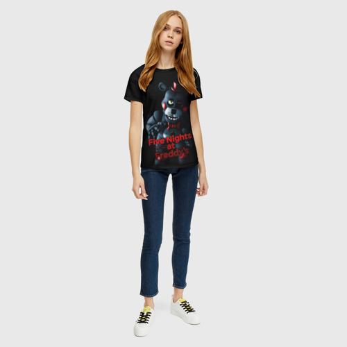 Женская 3D футболка с принтом Five Nights At Freddy's, вид сбоку #3