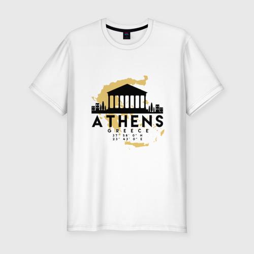 Мужская футболка премиум Афины - Греция