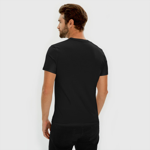 Мужская футболка премиум с принтом Соник, вид сзади #2