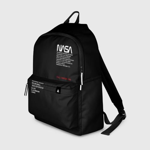 Рюкзак 3D с принтом NASA | НАСА, вид спереди #2