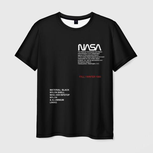 Мужская 3D футболка NASA