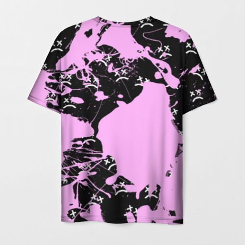 Мужская 3D футболка с принтом LIL PEEP, вид сзади #1