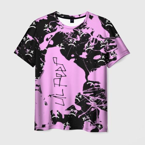 Мужская 3D футболка с принтом LIL PEEP, вид спереди #2