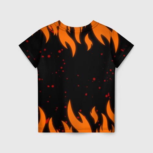Детская 3D футболка с принтом Наруто Печать 2, вид сзади #1