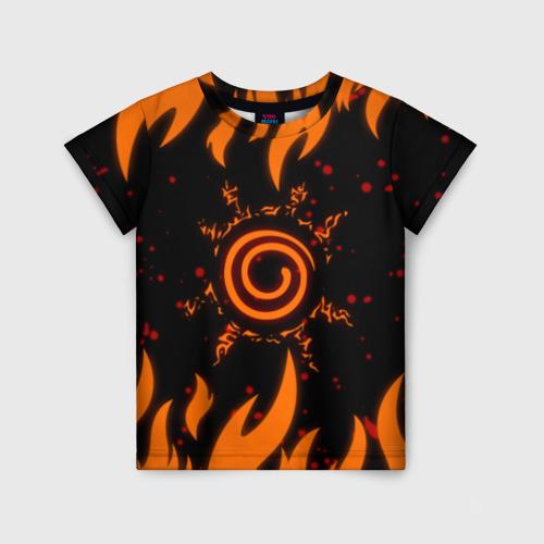 Детская 3D футболка с принтом Наруто Печать 2, вид спереди #2